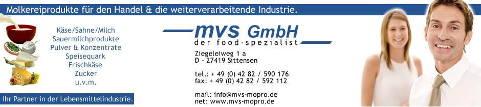 Molkereiprodukte für Handel und Industrie